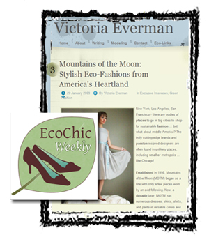 Mountains of the Moon in Victoria-E and Eco-Chic Weekly