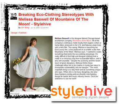 Designer Melissa Baswell in the Style Hive